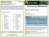 Airscale 1/48 US Navy & USMC aircraft instrument decals AS48USN