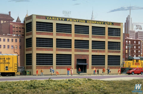 Walthers Cornerstone 933-3252 N scale Variety Printing Background Building