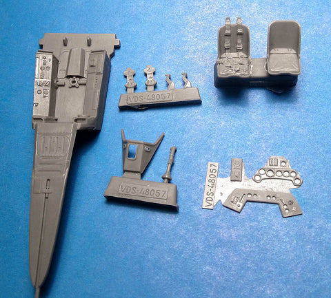 1/48 Vector resin Fw 190A-5 Fw 190A-8 Cockpit Set for Hasegawa - VDS48057