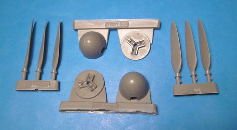 1/48 Vector resin Me 410B Corrected Propellers and Spinners for Meng - VDS48068