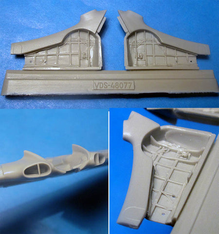 Vector Resin 1/48 scale Yak-3 Wheel Wells & Wingroot Intakes for Zvezda VDS48077