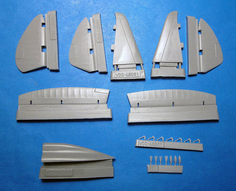 1/48 Vector resin Reggiane Re.2002 Spine & Control Surfaces for Tamiya - VDS48081