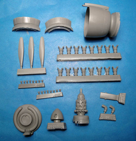 1/48 Vector resin Reggiane Re.2002 Cowl, Engine & Propeller for Tamiya / Italeri