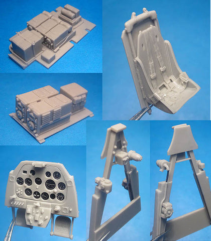 1/32 Vector Resin P-51A Mustang Cockpit Set for HobbyCraft #VDS32008