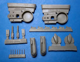 1/48 Vector resin Re.2002 Wheel Wells, Landing Gear for Tamiya / Italeri - VDS48084