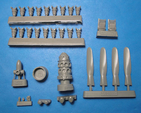 1/48 Vector resin P-47N Thunderbolt engine prop exhaust  Academy VDS48087