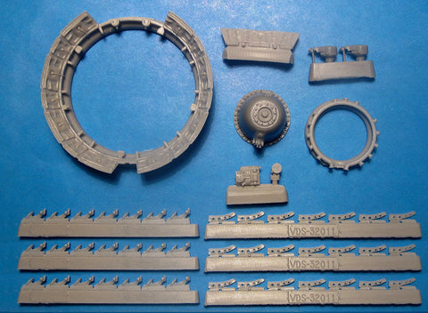 1/32 Vector Resin F4U-1 Corsair Cowl Flaps & Engine Upgrade #VDS32011
