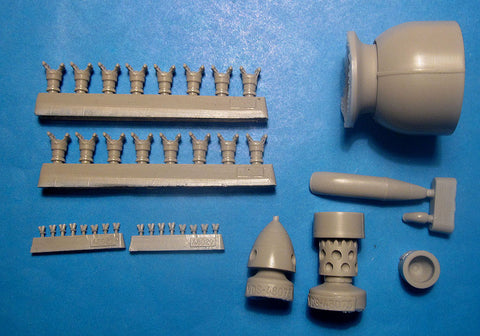 1/48 Vector resin Su-2 M-88B (Late) Conversion Set for Zvezda - VDS48073