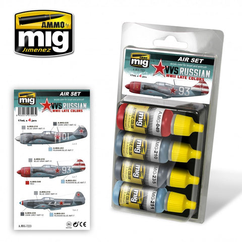 Ammo Mig Jimenez Acrylics 4 jars 17mL Russian WWII Late Colors  AMIG 7223