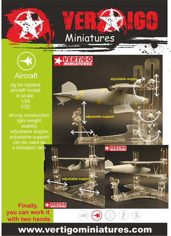 Vertigo Miniatures acrylic Jigs for biplane in 1/32 and 1/24 scale - VMP004
