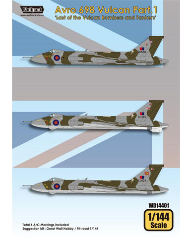 Wolfpack 1/144 decal Avro 698 Vulcan Pt.1 Great Wall Hobby/Pit-road WD14401
