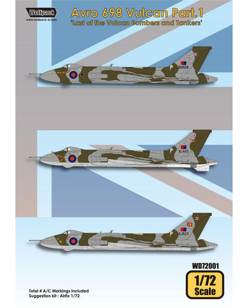 Wolfpack 1 72 Decal Avro 698 Vulcan Pt 1 For Airfix