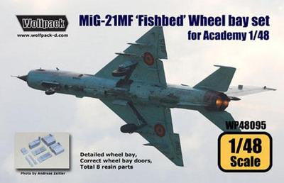 Wolfpack 1/48 scale resin MiG-21MF Fishbed Wheel bay set for Academy - WP48095