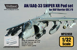 Wolfpack 1/32 AN/AAQ-33 SNIPER XR Targeting pod for Trumpeter RAF Harrier GR.7/9 WP32059