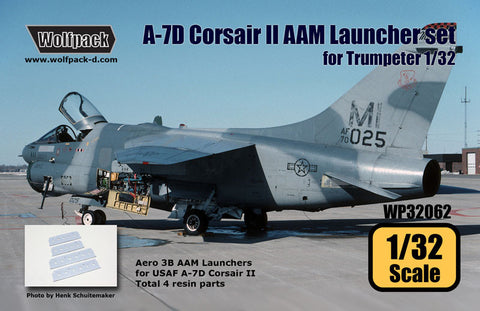 Wolfpack 1/32 scale resin A-7D Corsair AAM Launcher set Trumpeter WP32062