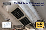 Wolfpack 1/32 resin F/A-18C/D Hornet C/F Dispenser set for Academy - WP32078
