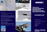 Wolfpack 1/48 resin F-4 Phantom II Hard Wing Flap down for Hasegawa WP48068