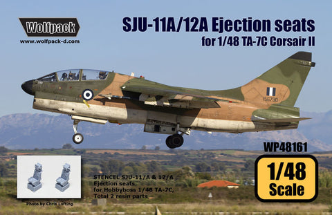 1/48 Wolfpack SJU-11A/12A Ejection seats TA-7C for Hobbyboss WP48161