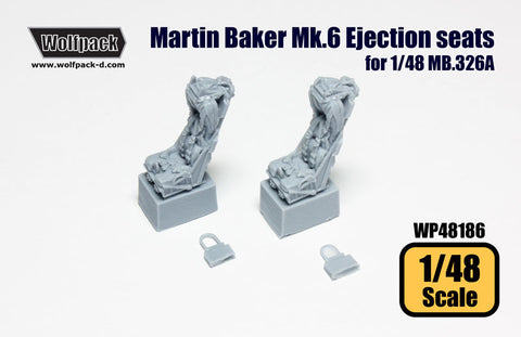 Wolfpack 1/48 resin Martin Baker Mk.6 Ejection seats for 1/48 MB.326A - WP48186