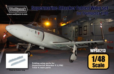 Wolfpack 1/48 Supermarine Attacker Fold Wing set for Trumpeter - WP48213