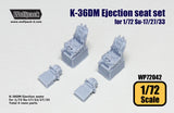 Wolfpack 1/72 K-36DM Ejection seat set for Su-17/27/33 (2 pcs) WP72042