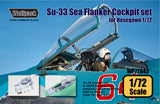 Wolfpack 1/72 scale resin Su-33 Sea Flanker Cockpit set for Hasegawa WP72043
