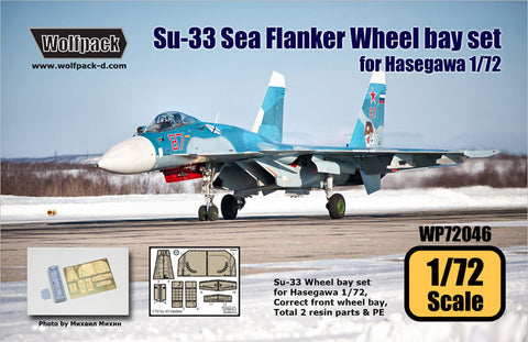 Wolfpack 1/72 scale resin Su-33 Sea Flanker Wheel bay set Hasegawa WP72046