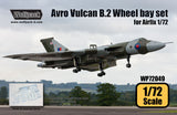 Wolfpack 1/72 resin Avro Vulcan B.2 wheel bay set for Airfix kit - WP72049