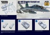 Wolfpack 1/72 scale resin EA-18G Growler Cockpit set for Hasegawa - WP72050