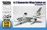 Wolfpack 1/72 scale resin A-3 Skywarrior wing fold set for Hasegawa - WP72060