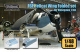 Wolfpack 1/48 scale resin F6F Hellcat Wing Folded set for Hasegawa - WW48001