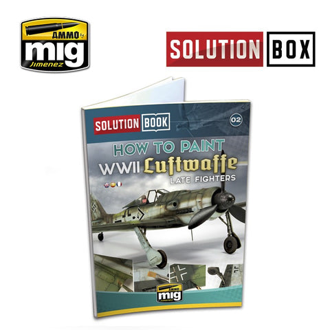 AMMO of MiG Jimenez How to Paint WW II Luftwaffe Late Fighters SOLUTION BOOK - AMIG6502