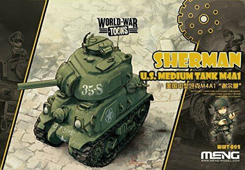 MENG World War Toons WWT-002 Sherman U.S. Medium Tank Kit