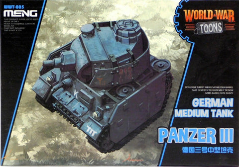 MENG World War Toons WWT-005 Panzer lll German Medium Tank Kit