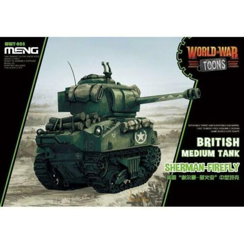 MENG World War Toons WWT-008 Sherman-Firefly British Meduim Tank Kit