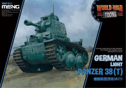 MENG World War Toons WWT-011 Panzer 38(t) German Light Tank Kit