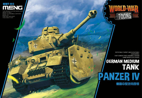 MENG World War Toons WWT-013 Panzer IV German Medium Tank Kit