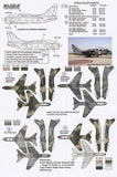 XtraDecal 1/72 decal set A-7K Corsair Twosair Greece Portugal ANG USAF X72090