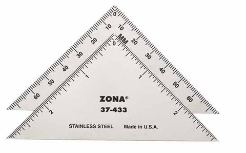 "Zona Tools - 37-433 Stainless Steel 3"" Triangle (76mm)"