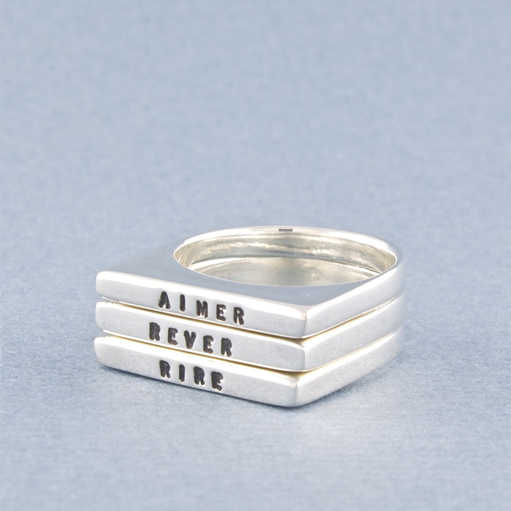 aimer, rêver, rire ring set - Serge Thoraval - Portobello Lane