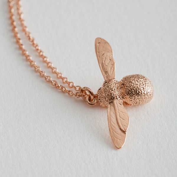 baby bee necklace rose gold - Alex Monroe - Portobello Lane