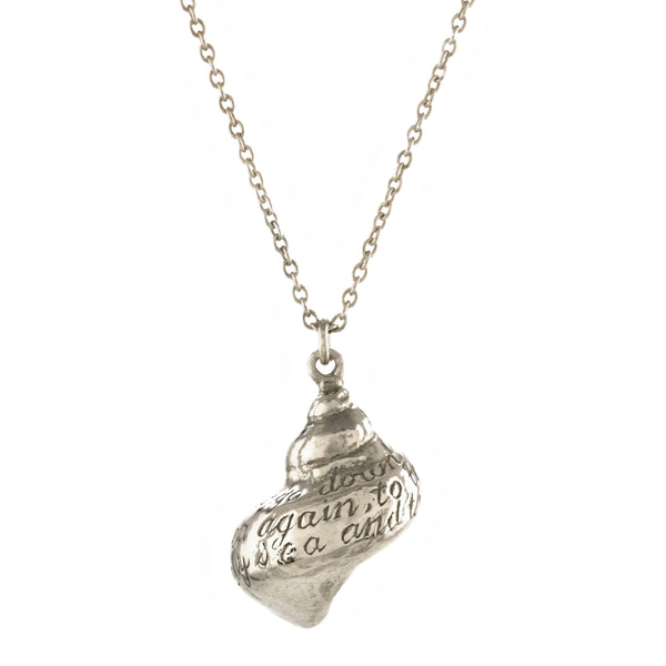 shell necklace silver - Alex Monroe - Portobello Lane