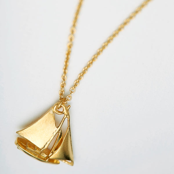 sail boat necklace - Alex Monroe - Portobello Lane