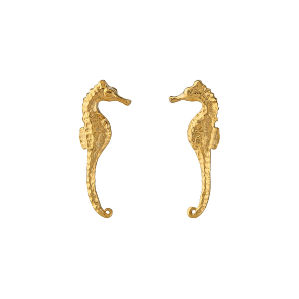 seahorse stud earrings - Alex Monroe - Portobello Lane