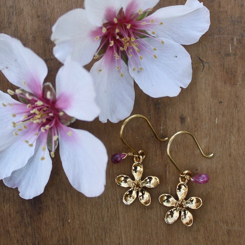 apple blossom earrings - Portobello Lane