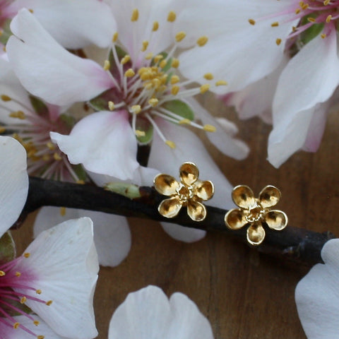 apple blossom stud earrings - Portobello Lane