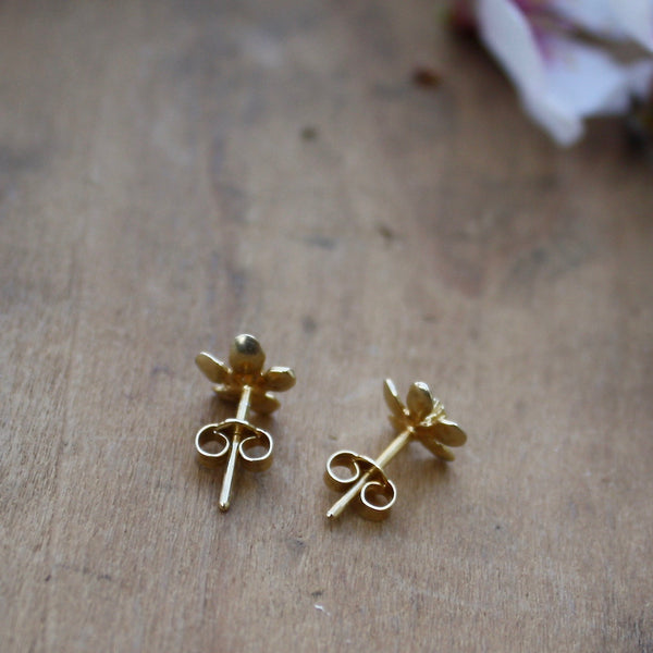 apple blossom stud earrings - Alex Monroe - Portobello Lane