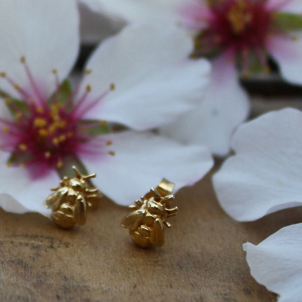 bee stud earrings - Alex Monroe - Portobello Lane