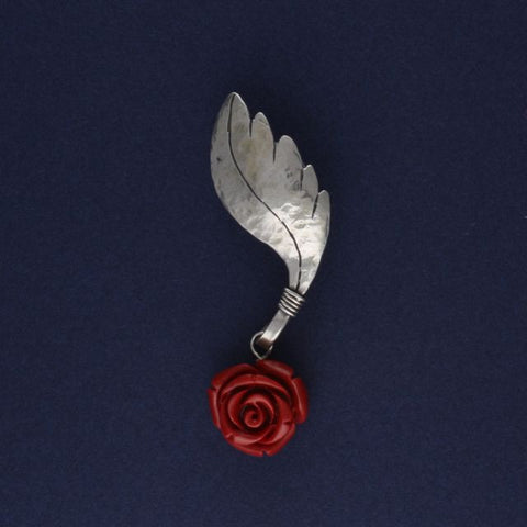 brooch rose leaf - Ruth - Portobello Lane