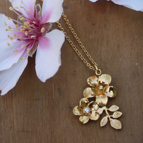 Calabrian flowers necklace - Alex Monroe - Portobello Lane